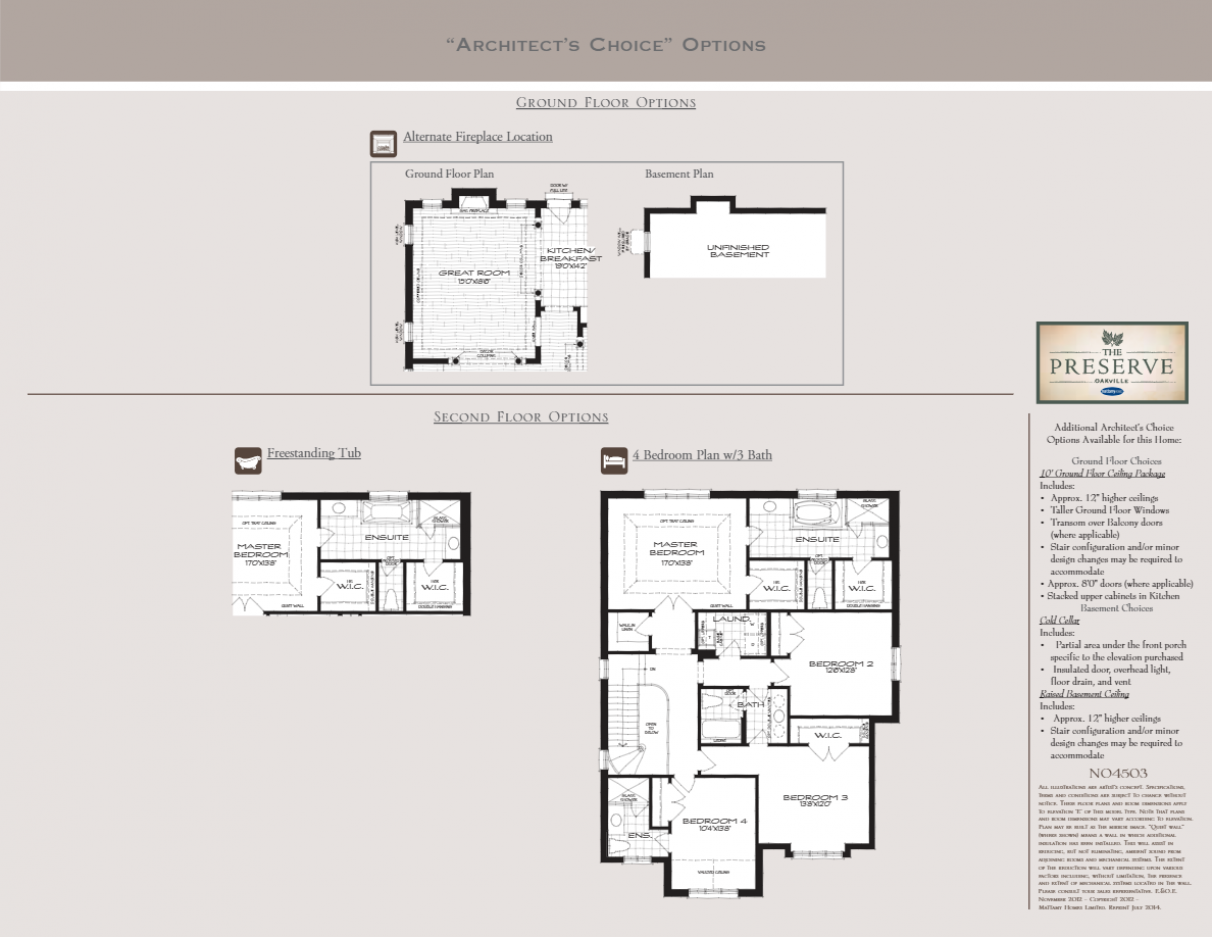 The Ginger Floor Plan from The Preserve by Mattamy Homes